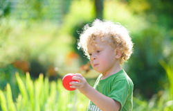 A blond child Royalty Free Stock Images
