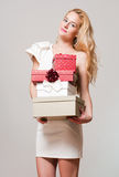 Blond christmas beauty. Stock Image