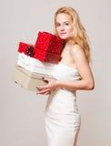 Blond christmas beauty. Royalty Free Stock Photo