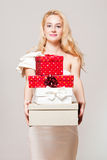 Blond christmas beauty. Stock Images