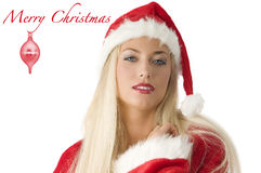 blond Claus Santa Fotografia Royalty Free