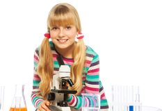 Blond clever teen schoolgirl Stock Photography