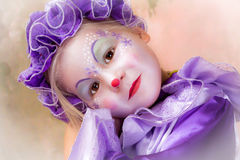 Blond clown girl Royalty Free Stock Photos