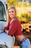 Blond country girl stock photography