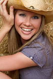 Blond Country Girl stock photos