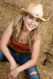 Blond Cowgirl Royalty Free Stock Images