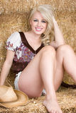 Blond Cowgirl Royalty Free Stock Photo