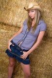 blond cowgirl Royaltyfri Bild