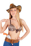 Blond cowgirl Royalty Free Stock Photography
