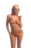 blond crochette för bikini royaltyfri bild