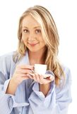 Blond with cup of coffee Stock Photography