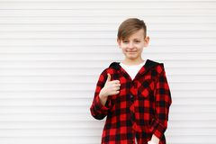 Blond cute boy stock images
