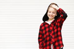 Blond cute boy stock photography