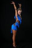 blond dansarelatin Royaltyfri Foto