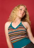 blond dansflicka Royaltyfri Foto