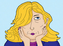 Blond Daydreaming Woman Royalty Free Stock Image