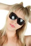 Blond in den Sonnenbrillen Lizenzfreies Stockfoto