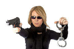 Blond detective  Royalty Free Stock Photo