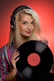 blond dj Arkivbilder