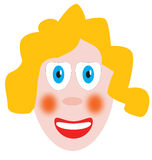Blond doll. A blond doll on white background Royalty Free Stock Photos