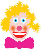 Blond doll. A blond clown on white background Stock Photography