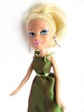 Blond doll on white Stock Photo