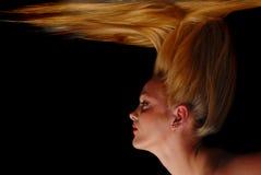 blond down falling girl hair her Fotografering för Bildbyråer