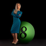 Blond in a dress Royalty Free Stock Photography
