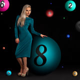 Blond in a dress Royalty Free Stock Photos