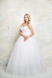blond dress wedding young 方式 免版税图库摄影