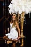 blond dress wedding young 有新娘构成神色的肉欲的新娘 看您的最好 免版税库存图片