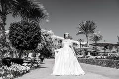 blond dress wedding young Arkivbilder