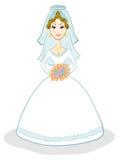 blond dress wedding young vektor illustrationer