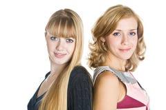 blond dziewczyny dwa fotografia royalty free