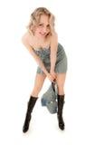 blond dziewczyny figlarnie seksowny Obraz Royalty Free
