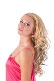 blond dziewczyny menchii tunika Zdjęcie Stock