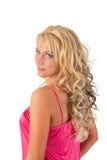blond dziewczyny menchii tunika Zdjęcia Stock