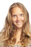 blond dziewczyny uśmiechnięci potomstwa Zdjęcia Royalty Free