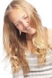 blond dziewczyny uśmiechnięci potomstwa Zdjęcie Royalty Free
