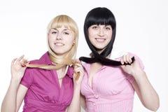 Blond et brunette Image libre de droits