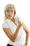 Blond euro woman Royalty Free Stock Image