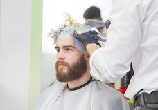 Blond färg för män arkivfoto