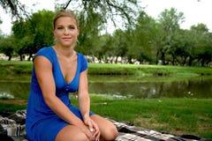 blond for för modemodell Royaltyfri Bild