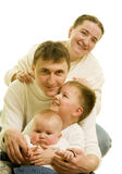 Blond family Stock Photography