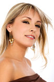 Blond fashion girl portrait Royalty Free Stock Photos