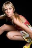 Blond Fashion Model stock image