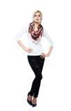 Blond female model Stock Photos