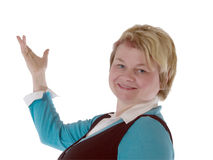Blond female teacher Stock Photo