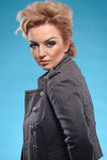 Blond femme fatale Stock Photo
