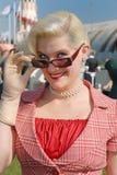 blond fifties glamorous style young Στοκ Εικόνα